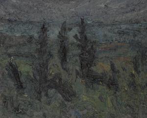 oil on canvas panel, 24x30