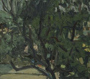 oil on canvas panel, 38x42